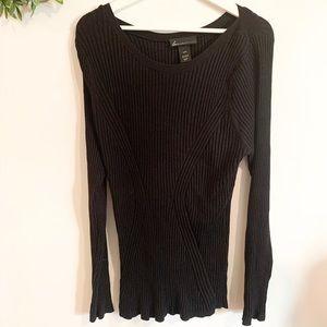 Lane Bryant 18/20 Black Boat Neck Sweater